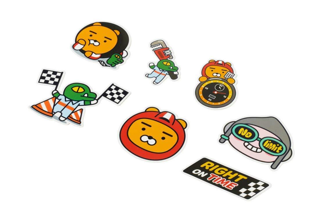 AetPrinting 20p KAKAO FRIENDS Friends Racing Deco Sticker Set