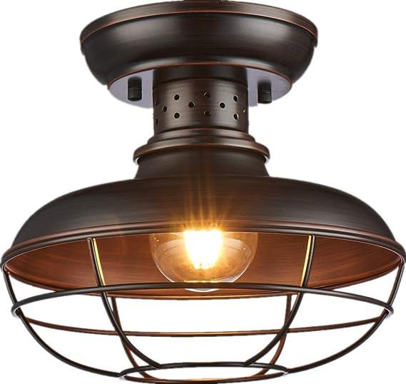 Shupregu Lighting Semi Flush Mount Ceiling Light Fixture Rustic Light Fixtures Farmhouse Lighting With Brushed Antique Bronze Finish 11 81dx 9 84h