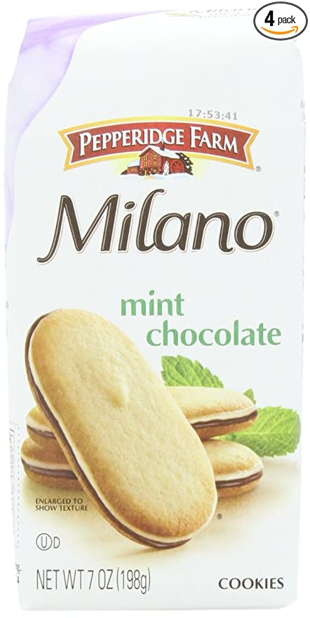Amazon Com Pepperidge Farm Mint Milano Cookies 7 Ounce Pack Of 4 Packaged Sandwich Snack Cookies Grocery Gourmet Food