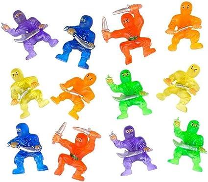 CUZAIL Party Favors Adults & Kids - Ninja Warriors Karate Figures 1.5
