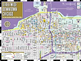 Street Map Of Downtown Chicago Streetwise Downtown Chicago Map   Laminated Street Map of Downtown