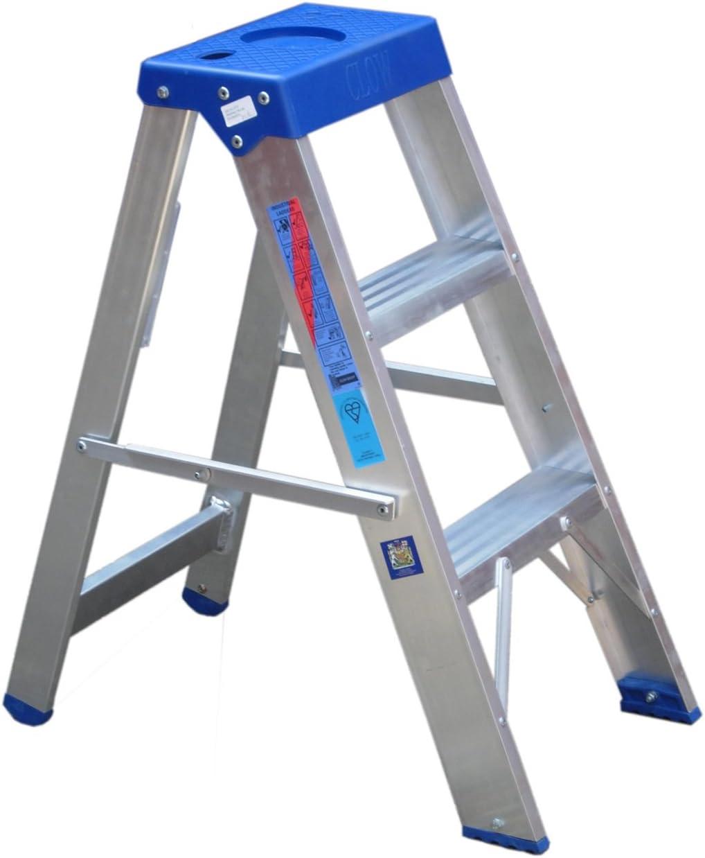 Clow escalera aluminio Industrial 175 kg 3 33 peldaños a BS2037 clase 1: Amazon.es: Bricolaje y herramientas