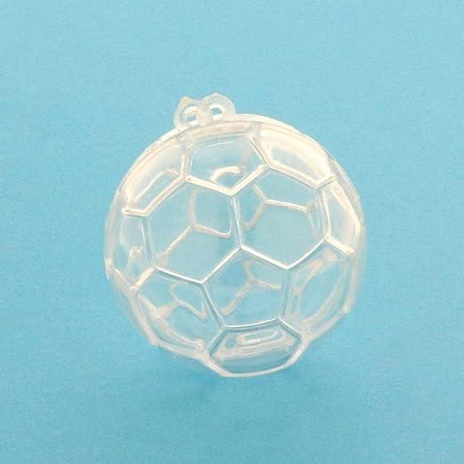 Publilancio srl - Caja de plexiglás con Forma de balón de fútbol ...
