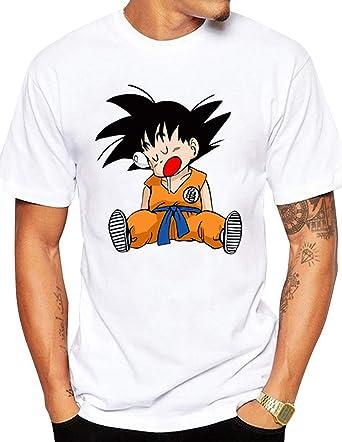Camiseta Dragon Ball Hombre, Camiseta Dragon Ball Adolescentes, Casual Manga Corta Impresión 3D T-Shirt Abecedario Camisa de Verano Regalo Camisetas Musculosa y Talla Grande Tops (61, L): Amazon.es: Ropa y accesorios