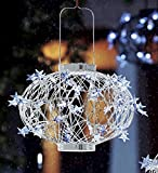Large White Solar Star Lantern