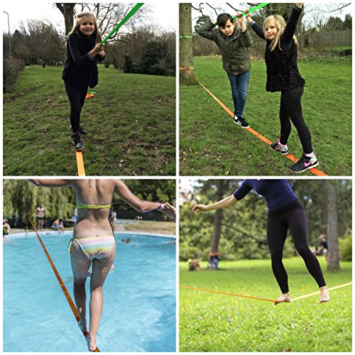 Slackline Kit With Training Line And Tree Protectors, 50 Ft Easy Set Up Slack  Line Set, Perfect Slacklines For Kids And Family Outdoor Fun; ...