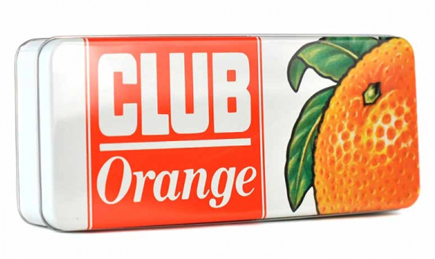 Jacobs Club Orange Storage Tin - Rectangular (23.5cm Long by 10cm Wide by 5cm high) Half Moon Bay