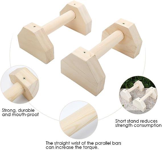 Press up Handles 50/×14/×11cm Wood Parallettes for Calisthenics Hand Stand Bars Yoga Gymnastics
