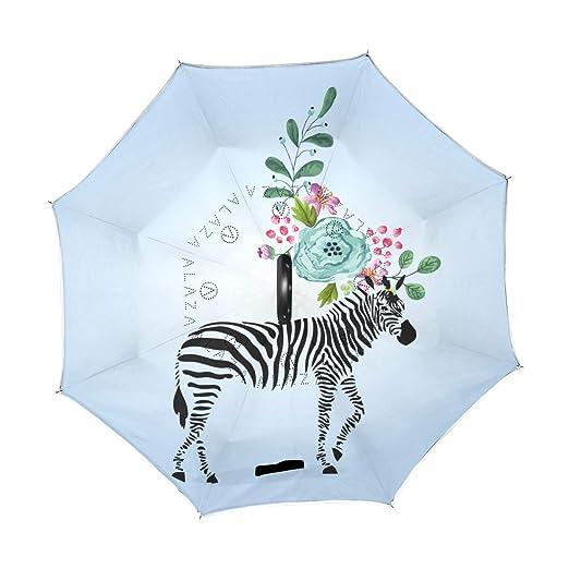 Amazon.com: Mr.XZY Paraguas de doble capa invertido, diseño ...