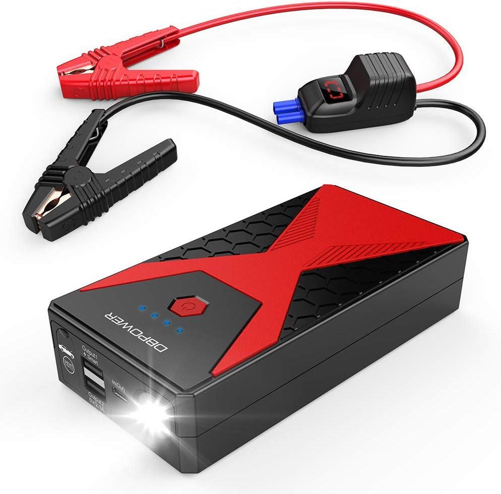 DBPOWER 600A Peak 18000mAh Portable Car Jump Starter up to 6.5L Gas//5.2L Diesel