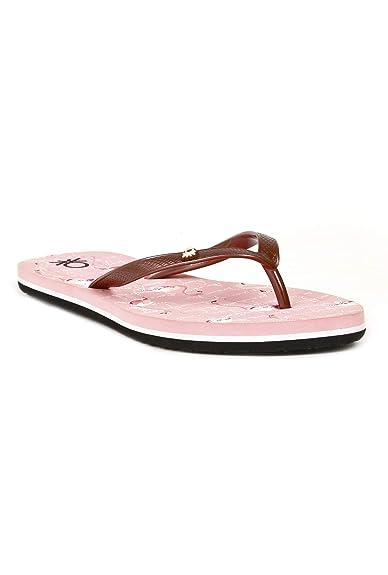 a96053485 United Colors of Benetton Women s Light Pink Flip-Flops-8 UK India ...