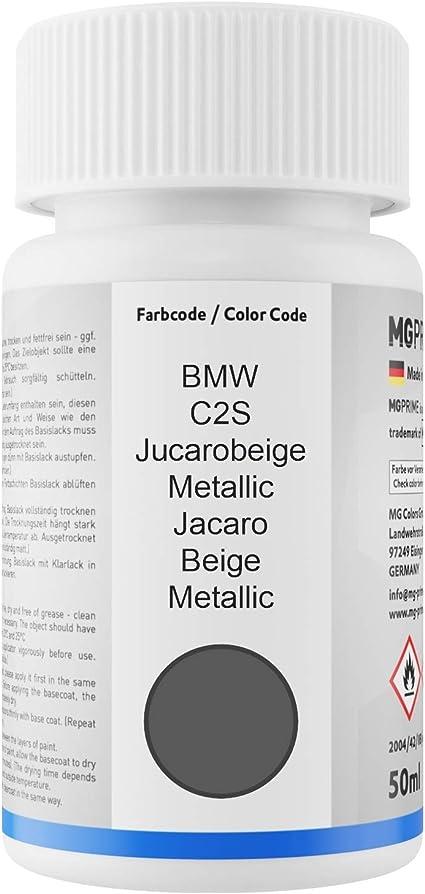 Mg Prime Autolack Lackstift Set Für Bmw C2s Jucarobeige Metallic Jacaro Beige Metallic Basislack Klarlack Je 50ml Auto
