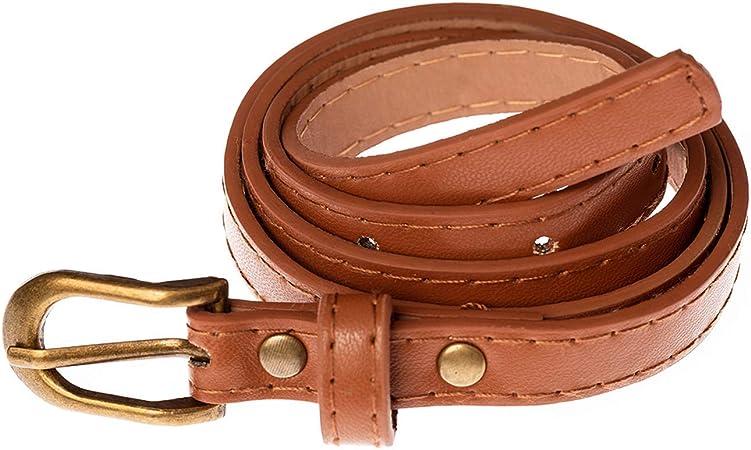 Women/'s Thin Belt Flowers Buckle Waist Belts Lady Belt Dress Waistband Decor SL