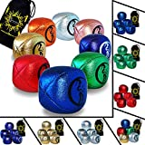 Flames N Games Metallic Leather Juggling Balls Set of 5 - Pro Juggling Balls for All abilities! (Gold) Price is for one Set of 5 Juggling Balls