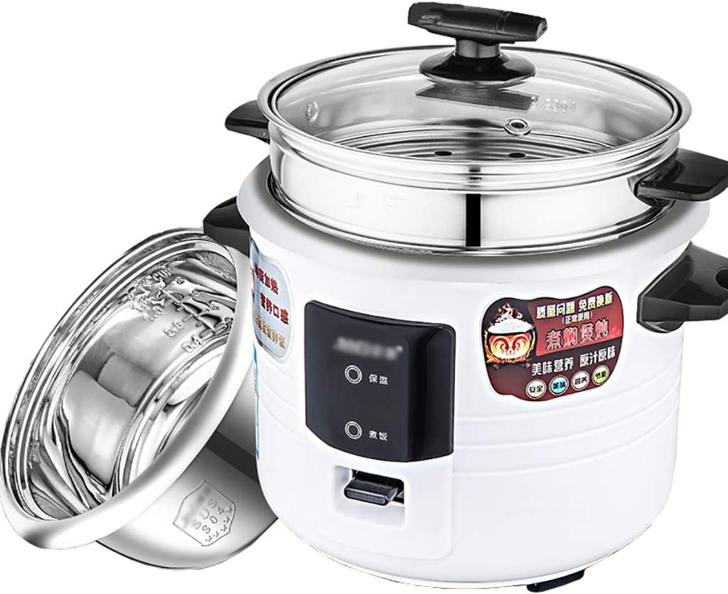 Old fashioned Rice Cooker (2L-6L) Home Intelligent Insulation Multi-function 304 Stainless Steel Inner Pot Spoon Steamer And Measuring Cup Dormitory Small Appliances Can Accommodate Up To 1-10 People