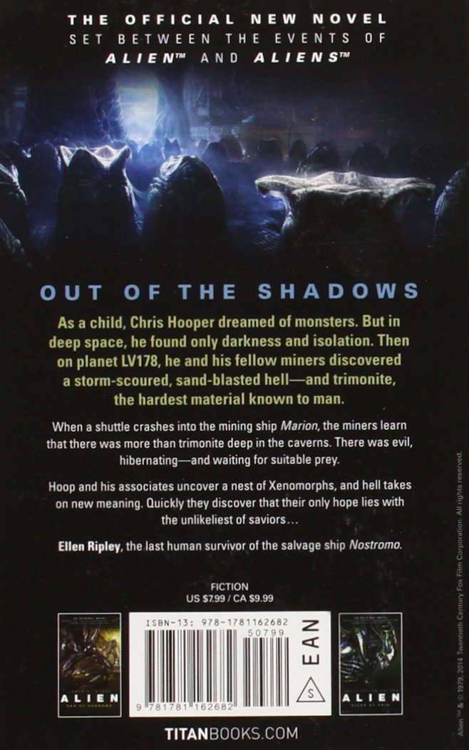 Amazon com: Out of the Shadows (Alien) (9781781162682): Tim