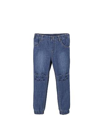 Vertbaudet Vertbaudet Mädchen Jeans mit Fleecefutter, Katze Jeanshosen   Amazon.de  Bekleidung 268262a34e