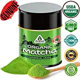 Matcha Green Tea Powder - [CFIA Organic] - Japanese Ceremonial Grade - 100% Pure Natural Antioxidant Uji Superfood Energy Booster - Premium Top Quality 20 Servings [30g Size]