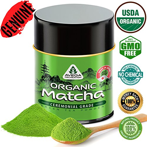 (Matcha Green Tea Powder - [USDA Organic] Japanese Ceremonial Grade - Best Antioxidant 100% Pure [30g - 1oz] Original Powerful Energy Booster Distinctly Top Superfood Uji Imported Great hot N cold Brew)