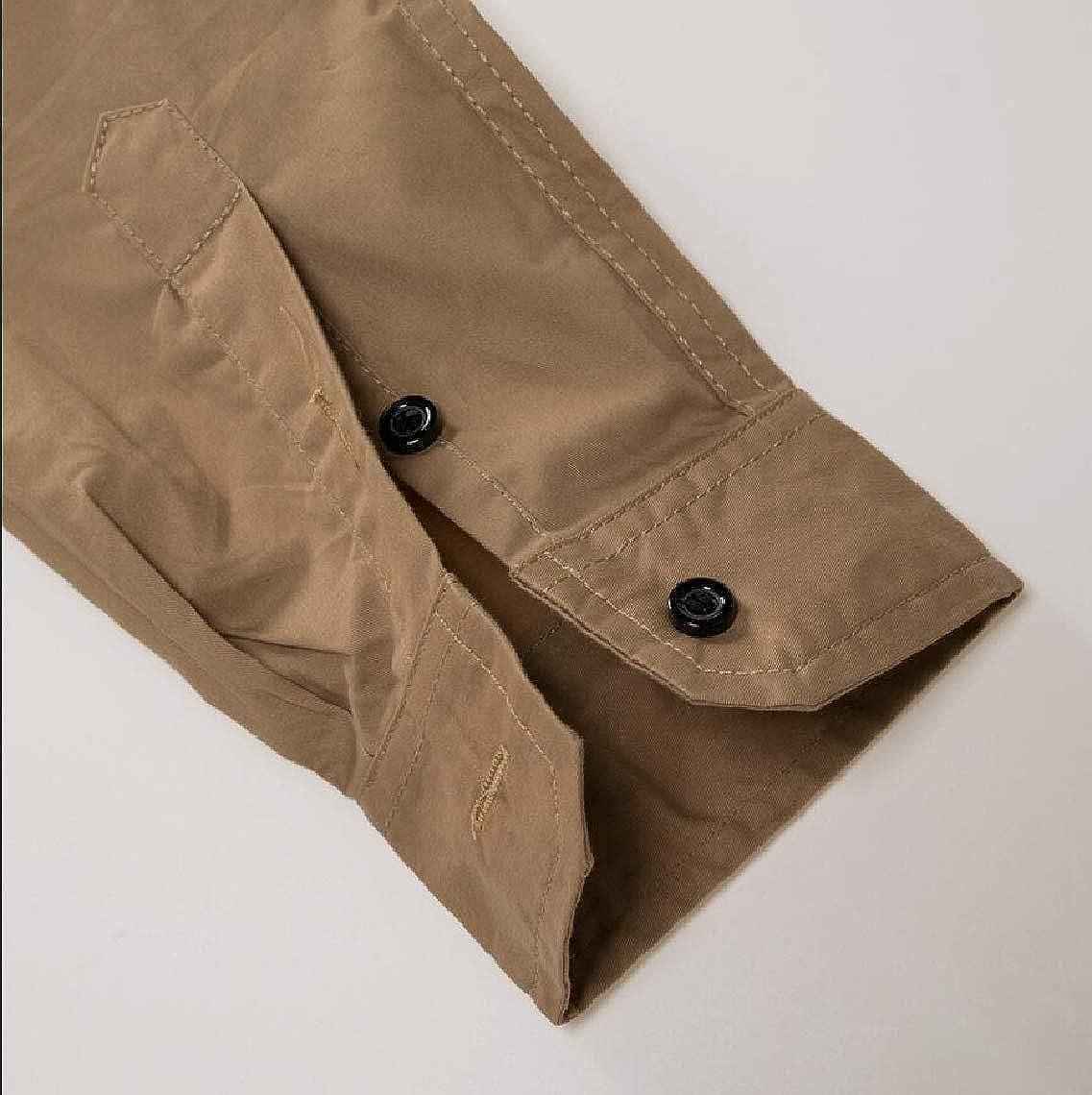 Keaac Mens Slim Fit Long Sleeve Button Down Shirts with Pocket Dress Shirts