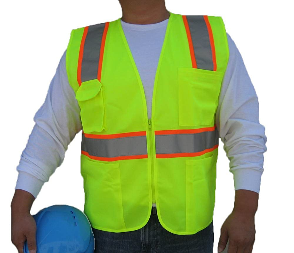 NEON Green ANSI//ISEA 3C Products Class 2 Reflective Safety Vest