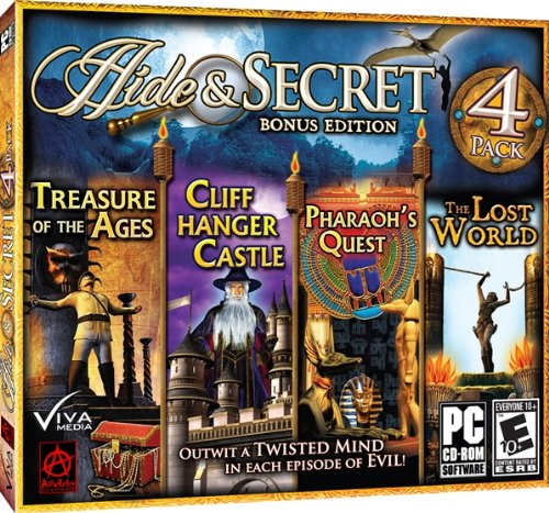 Hide & Secret: Bonus Edition (Treasure of the Ages / Cliff Hanger Castle / Pharaoh's Quest / The Lost (Cliff Media Center)