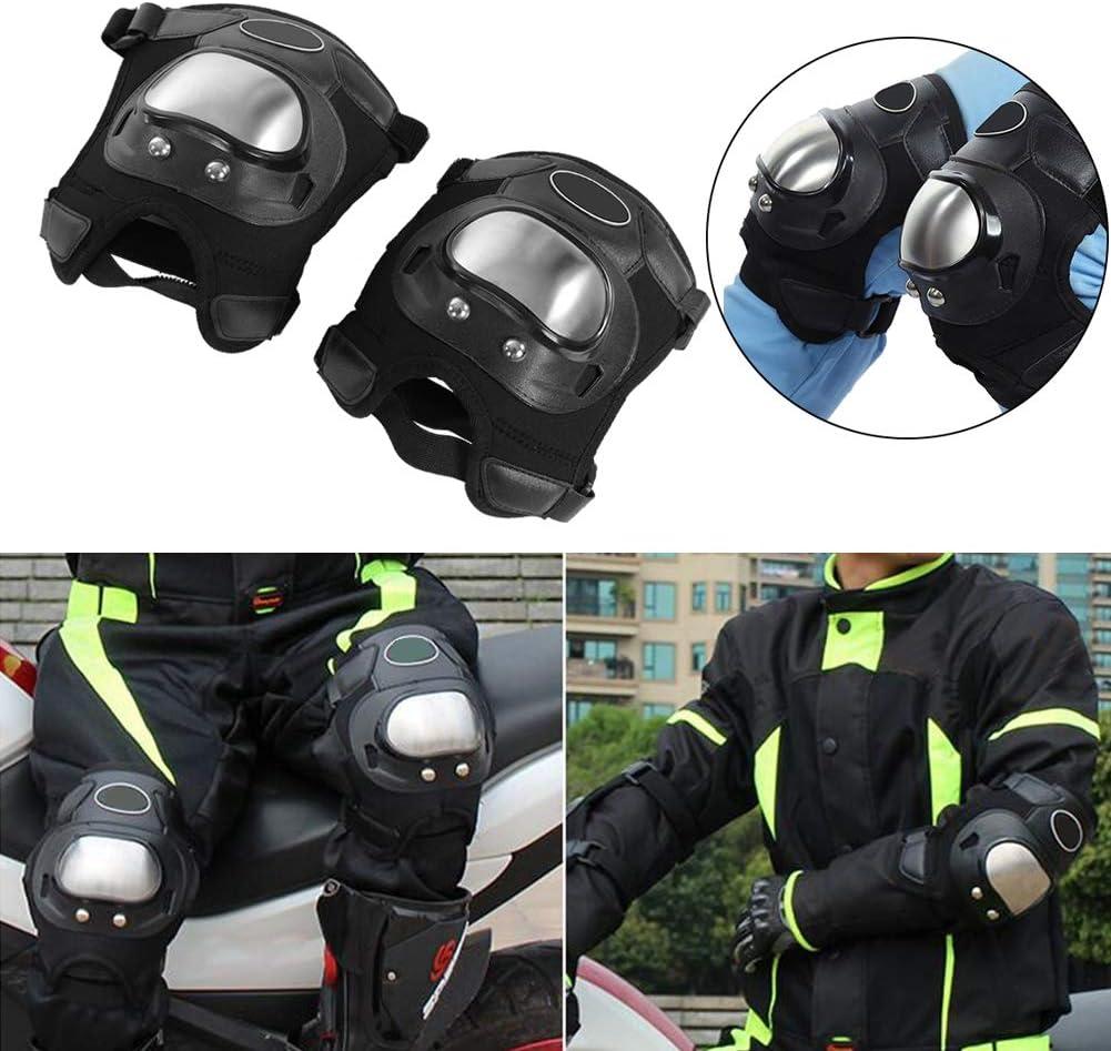 Ginocchiera per moto KIMISS Ginocchiera per ciclismo 2 pezzi Motocross in acciaio inossidabile Motocross ATV Adulti Ginocchiere per motociclisti Supporto per protezioni Protezioni Sport allaria ape