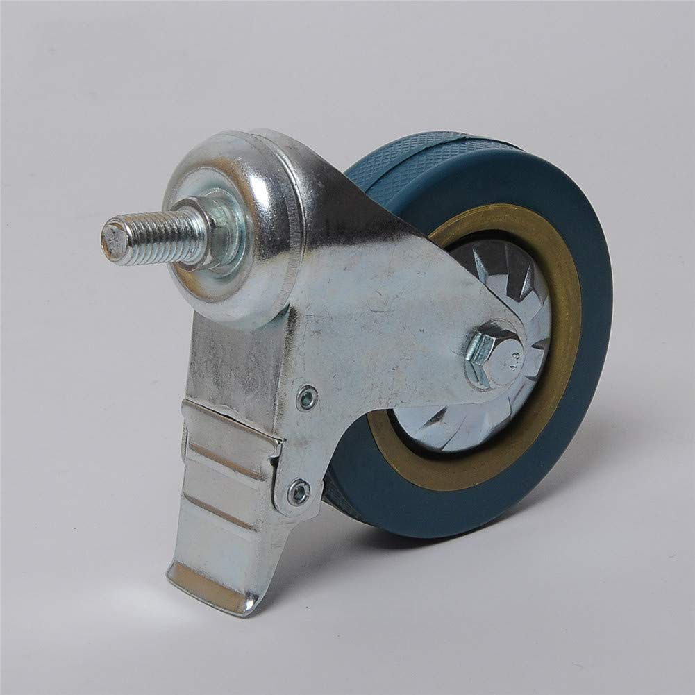 Threaded Stem Mount Castors QINAIDI 4 Pack Heavy Duty Swivel Caster Wheels with Brake