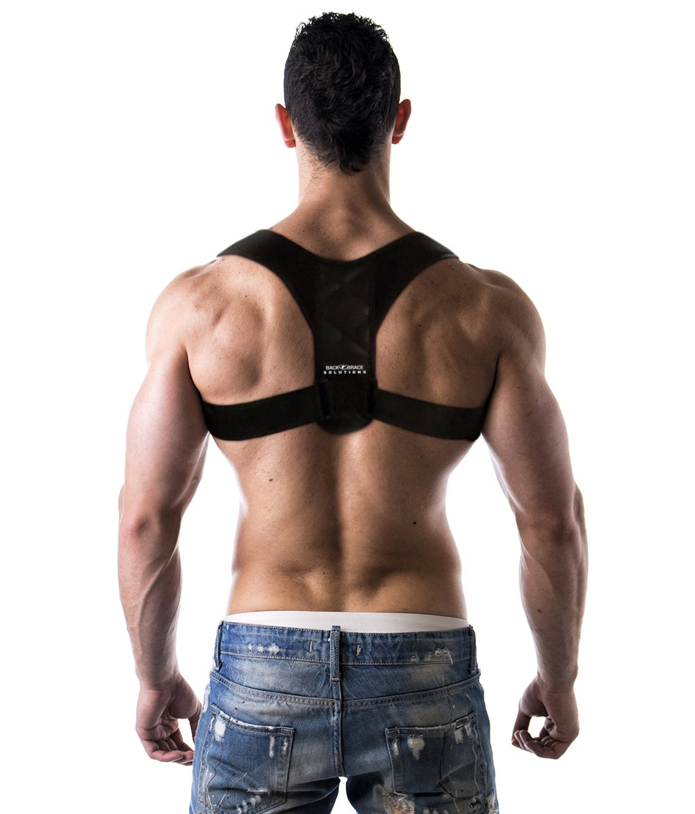 Advanced Posture Corrector by Back Brace Solutions. Improve Your Posture Now and Feel The Amazing Benefits/Pain Relief. Unisex Support Designed to Eliminate Bad Posture, Slouching, and Hunching