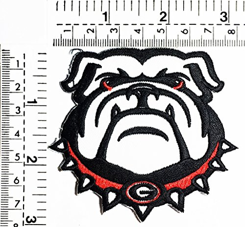 (English puppy dogs pitbull bulldogs head dogs kids Children cartoon patch Applique for Clothes Great as happy birthday)
