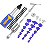 Dent Repair Tools ,2 in 1 T-Puller (Big Dent) Paintless Dent Repair Kits 69pcs Dent Repair Tool - Dent Repair kit with Bridge Dent Puller (Small-Middle Dent)for Car Body Hail Dent Removal Dent (Kit B)