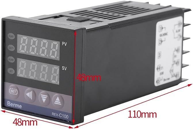 Intelligenter Temperaturregler REX-C400 0-1300 ℃ Digitaler Thermostat Für Öfen