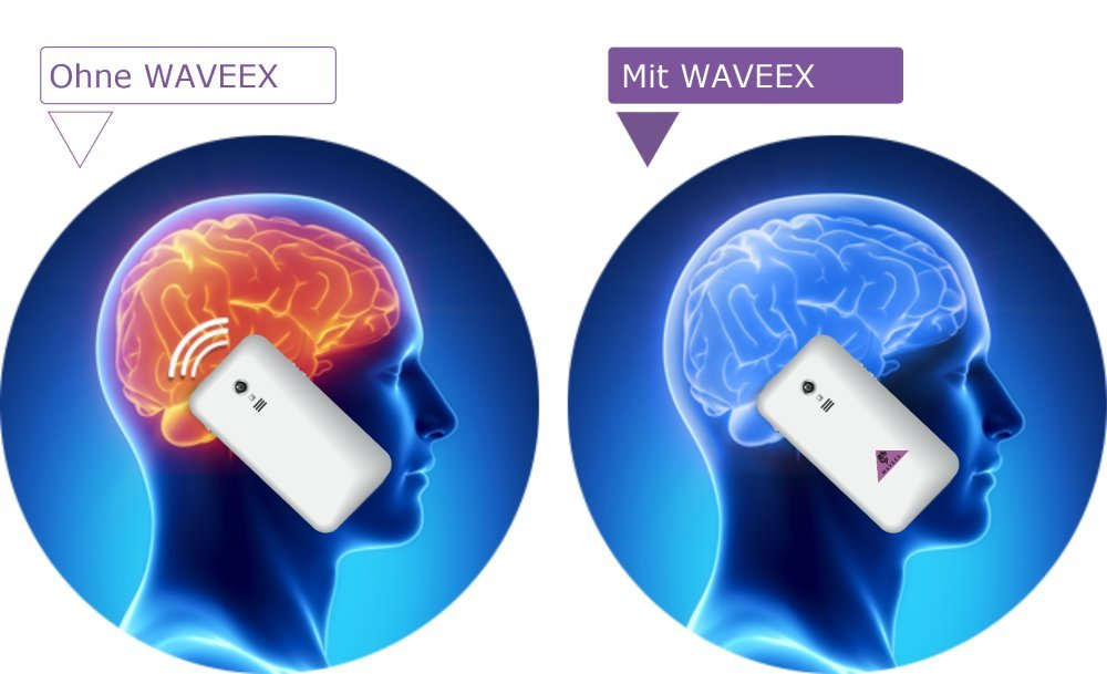 WAVEEX 1 pieza - pegatinas - proyección de zona-electromagnética niebla tóxica del Handy radiación zona electromagnéticos CEM Armonizador neutralizador de ...