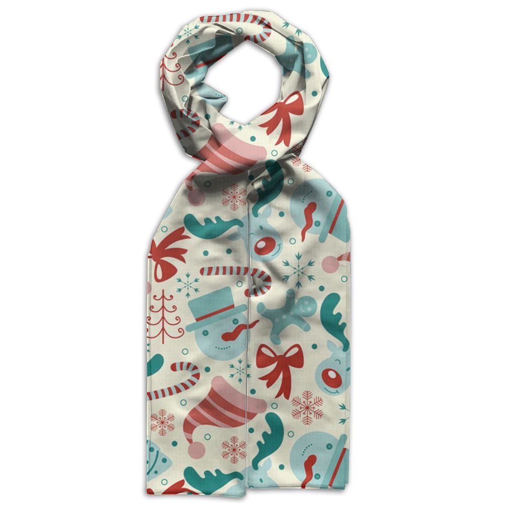 Merry Christmas Printing Scarf Warm Soft Fashion Scarf Shawl Spring Autumn Winter Kids Boys Girls