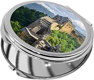 Great Wall of China Printed Pocket Circular Mirror
