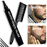 Pacinos Beard Pencil Filler - Water Proof, Long Lasting Coverage & Natural Finish - Beard, Moustache & Eyebrows - Micro-Fork