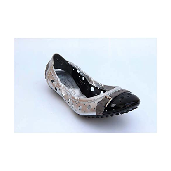 Amazon.com | Silver 36 EUR - 6 US (241mm) Tod\s ladies ballerina  XXW0HI0A2403U6299C | Flats