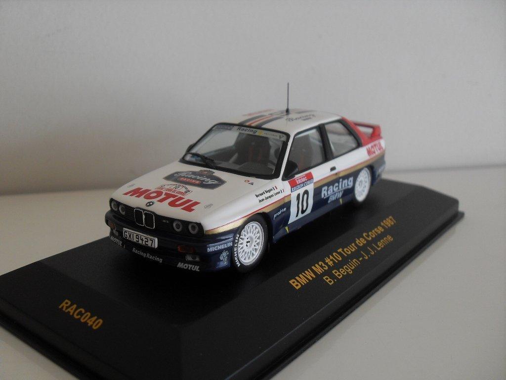 IXO 1/43 SCALE - RAC040 - BMW M3 10 TOUR DE CORSE 1987 - BEGUIN / LENNE