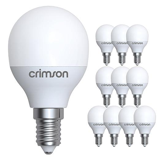 Crimson Golf bombillas LED E14 5 W rosca pequeña G45 luz blanca cálida 450 lm 3000