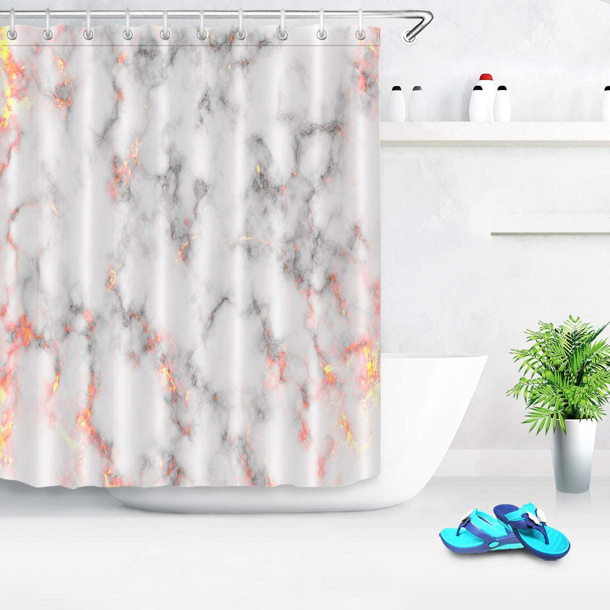 Riverbyland Shower Curtains Purple Stone 72 X 80