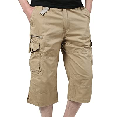 EVERDESIGN Men's Standard Flat-Front Casual Chino Short Authentics Classic-Fit Quick-Dry Golf Shorts at Amazon Men's Clothing store