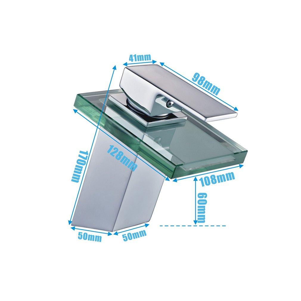Auralum® verre mitigeur pour lavabo robinet à monocommande avec ...