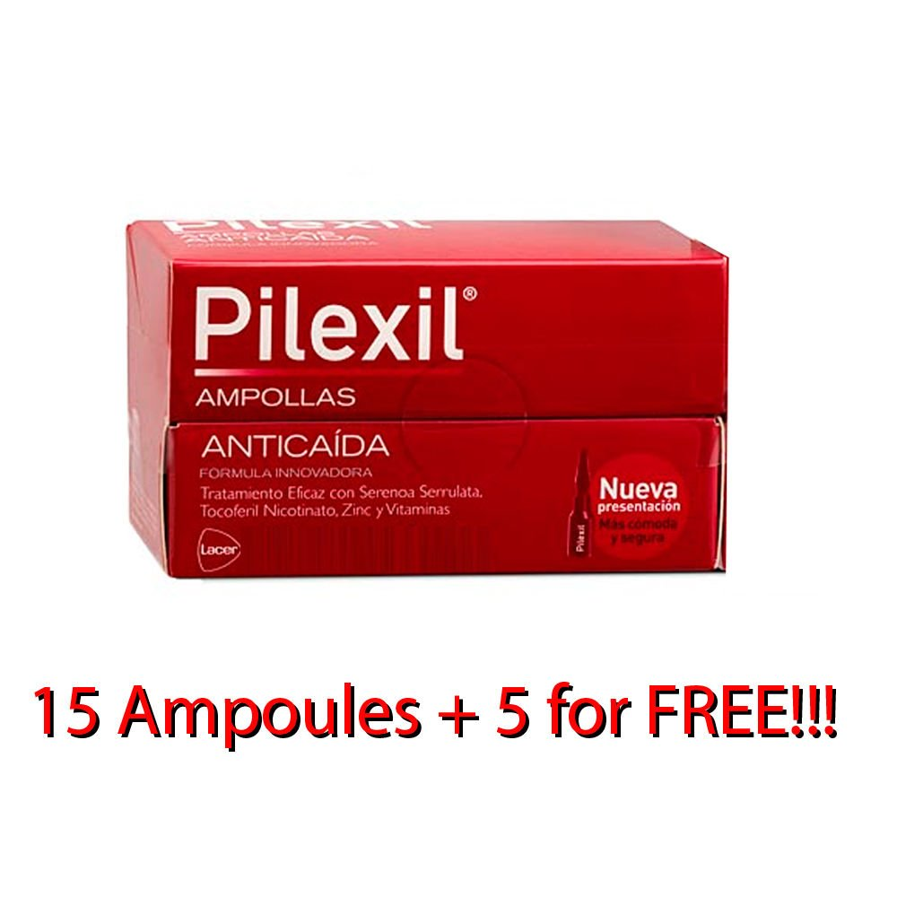 Amazon.com : PILEXIL 20 AMPOULES AMPOLLAS HAIR LOSS ANTIQUEDA ANTI CAIDA Hair Regrowth Treatments : Beauty