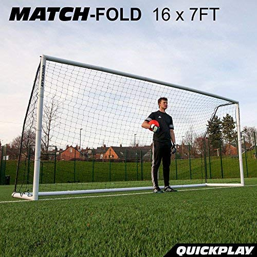 QuickPlay Match-Fold Soccer Goal (16x7') with 2YR Warranty (Fifa 16 Best Players)