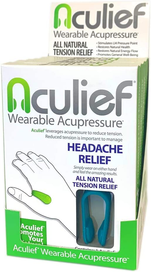 Aculief Six Pack Display Award Winning Natural Headache ...