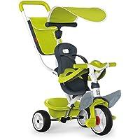 Triciclo Baby Balade 2 verde con volquete y ruedas silenciosas (Smoby 741100)
