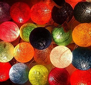 Buy Handmade Mix Color Tone Handmade Cotton Balls Fairy String