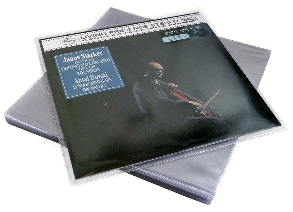 50 Fundas Exteriores PVC Deluxe para Discos de Vinilo LP Ref.2989