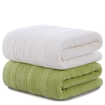 Toallas cómodas toallas suaves Cargado dos toallas de baño del algodón adulto Aumentar la toalla absorbente