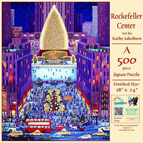 Rockefeller Center Halloween (SUNSOUT INC Rockefeller Center 500 pc Christmas Holiday Jigsaw)
